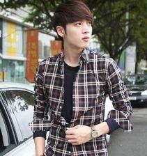 gaya rambut korea oblique bangs